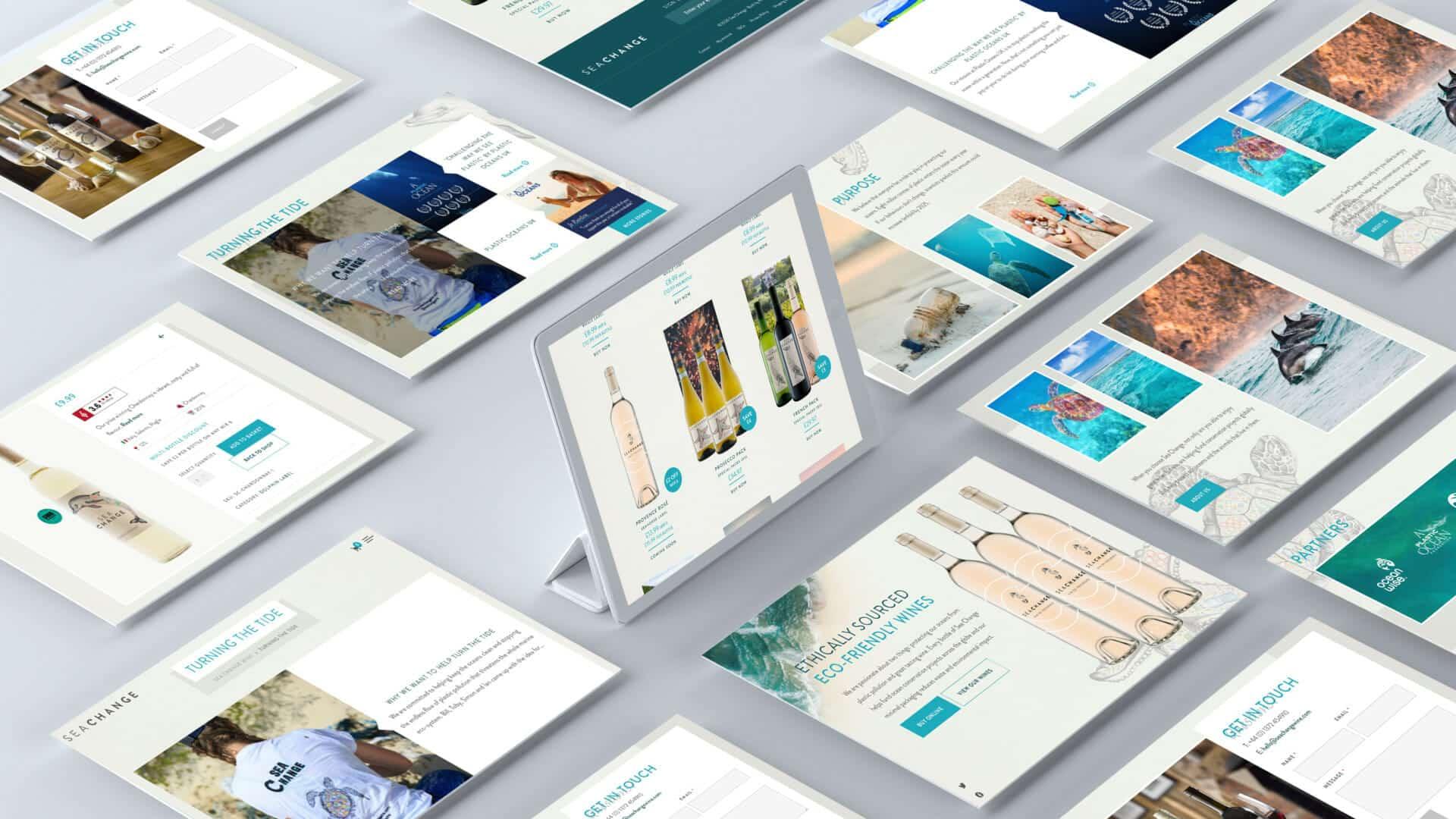Seachange website redesign