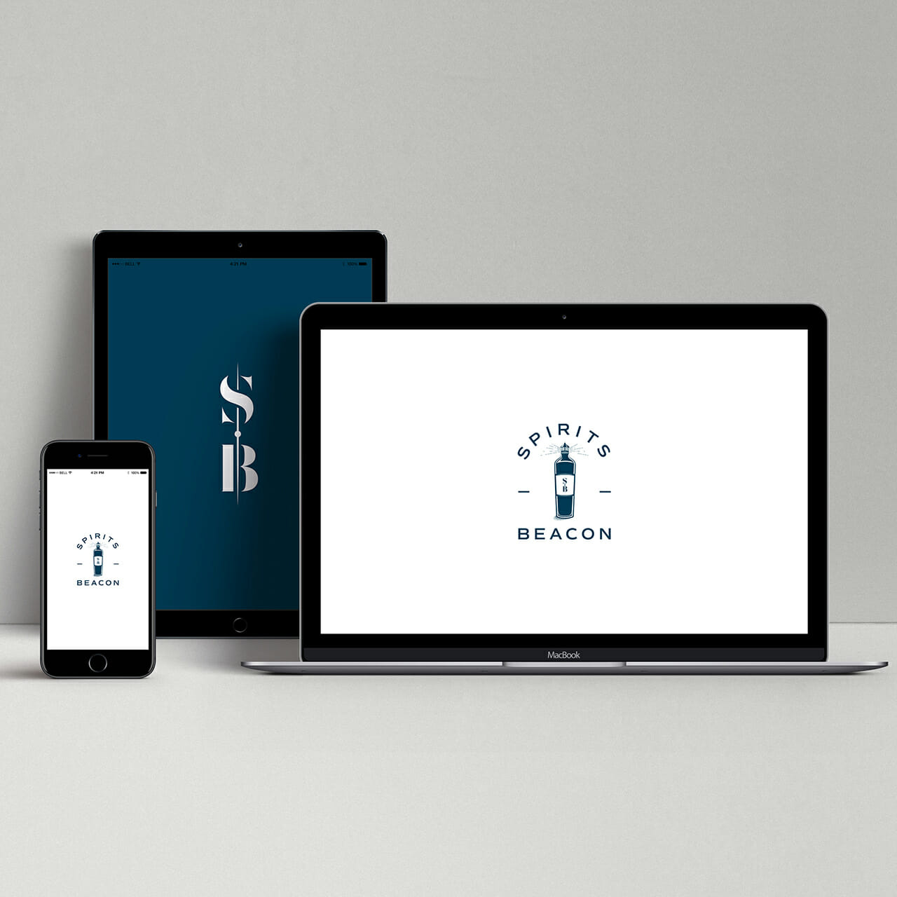Cross device logo design