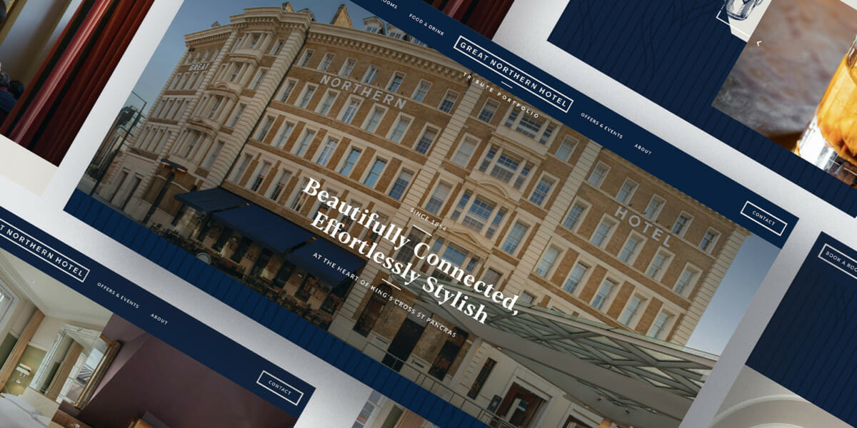 Luxury Hotel London branding and web design project