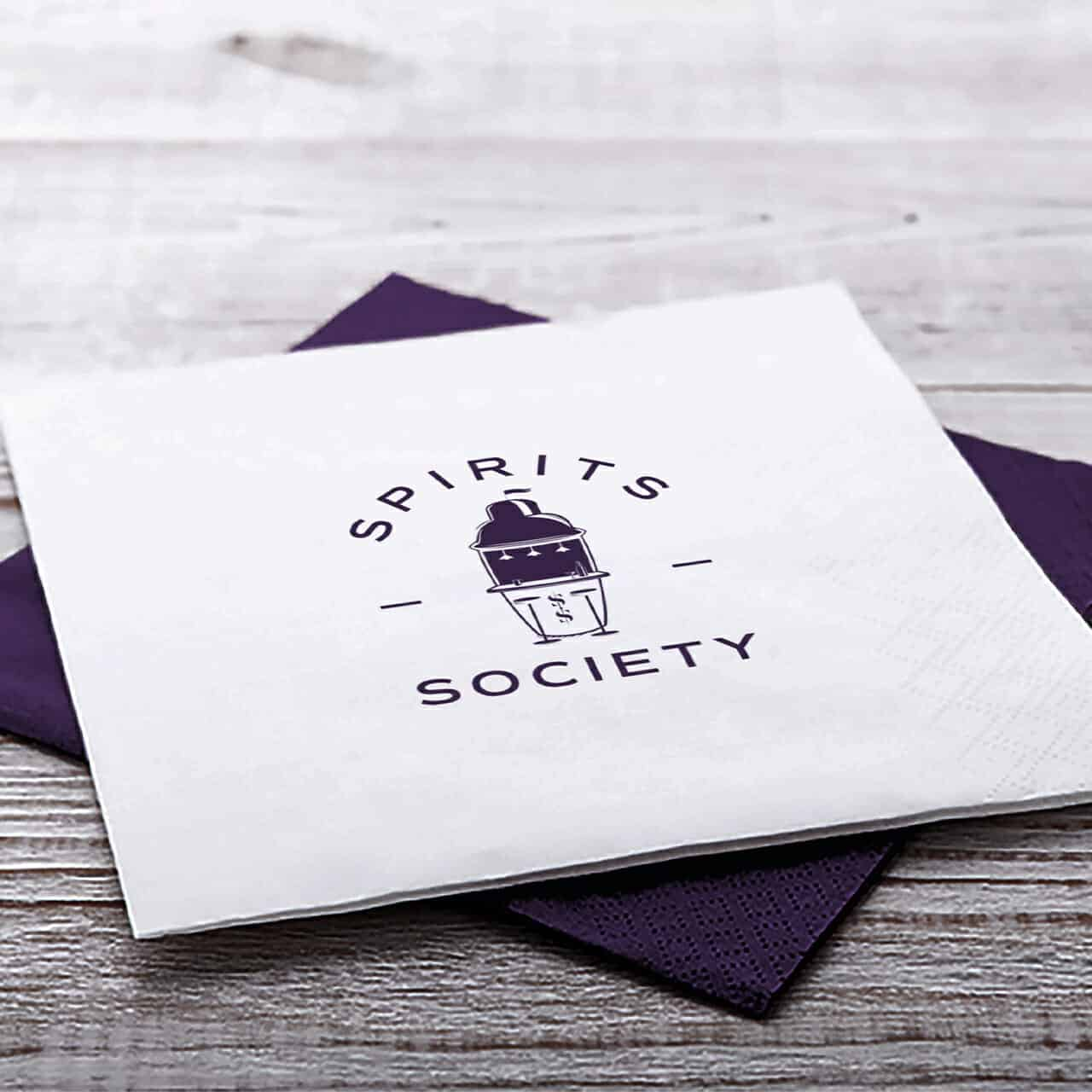 Branded Napkins for Spirits Society